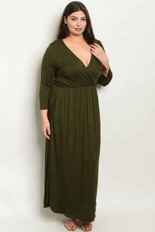 Oui Love Olive Dress