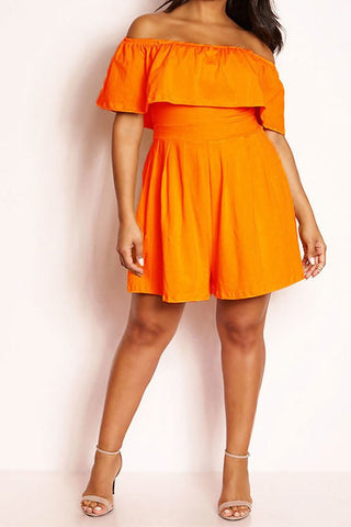*CLEARANCE ITEM* Frill Of The Chase Romper