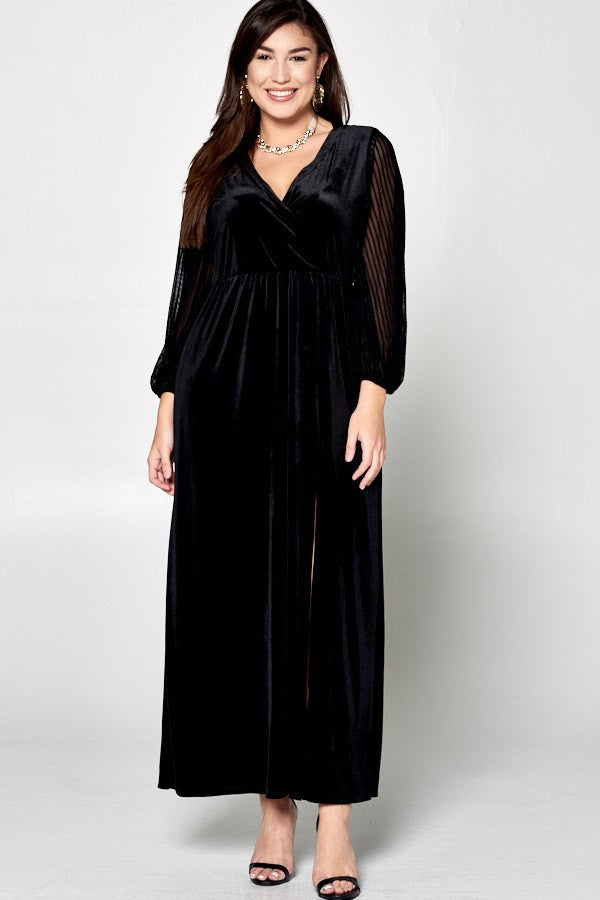 Cocktails & Curves Maxi Dress