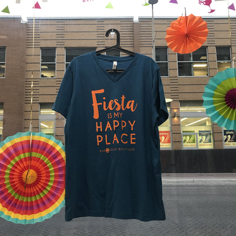 Fiesta is my Happy Place V-Neck Tee