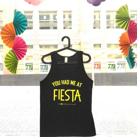 You Had Me At Fiesta - Black Fiesta Tank