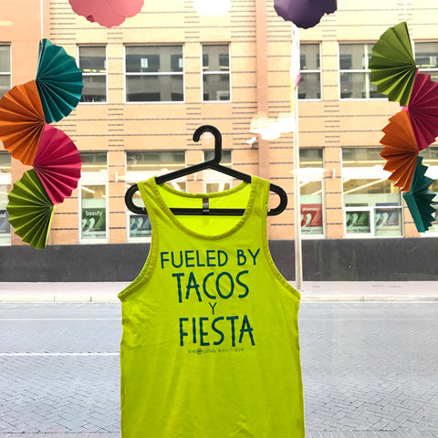 Fueled By Tacos Y Fiesta - Yellow Tank