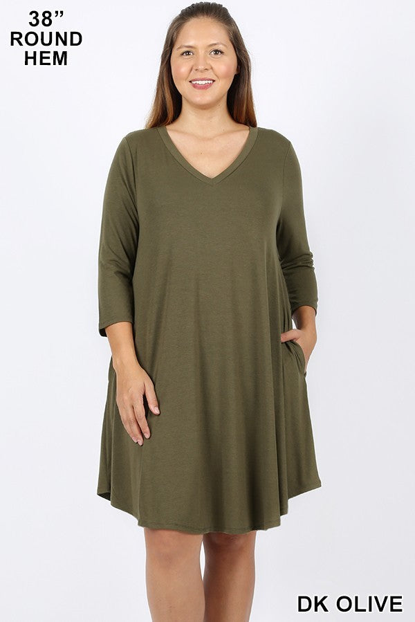 Pocket Perfect VNeck Dress