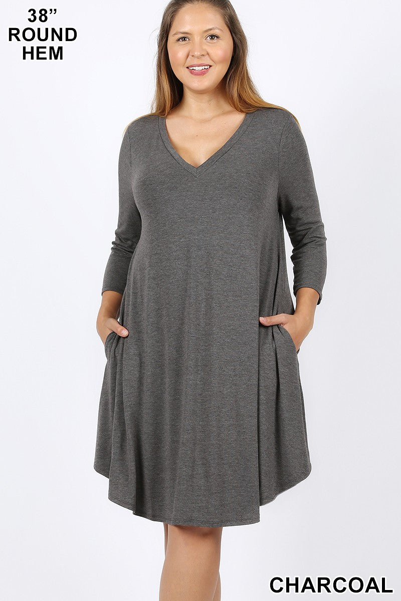 No Brainer Dress - Grey
