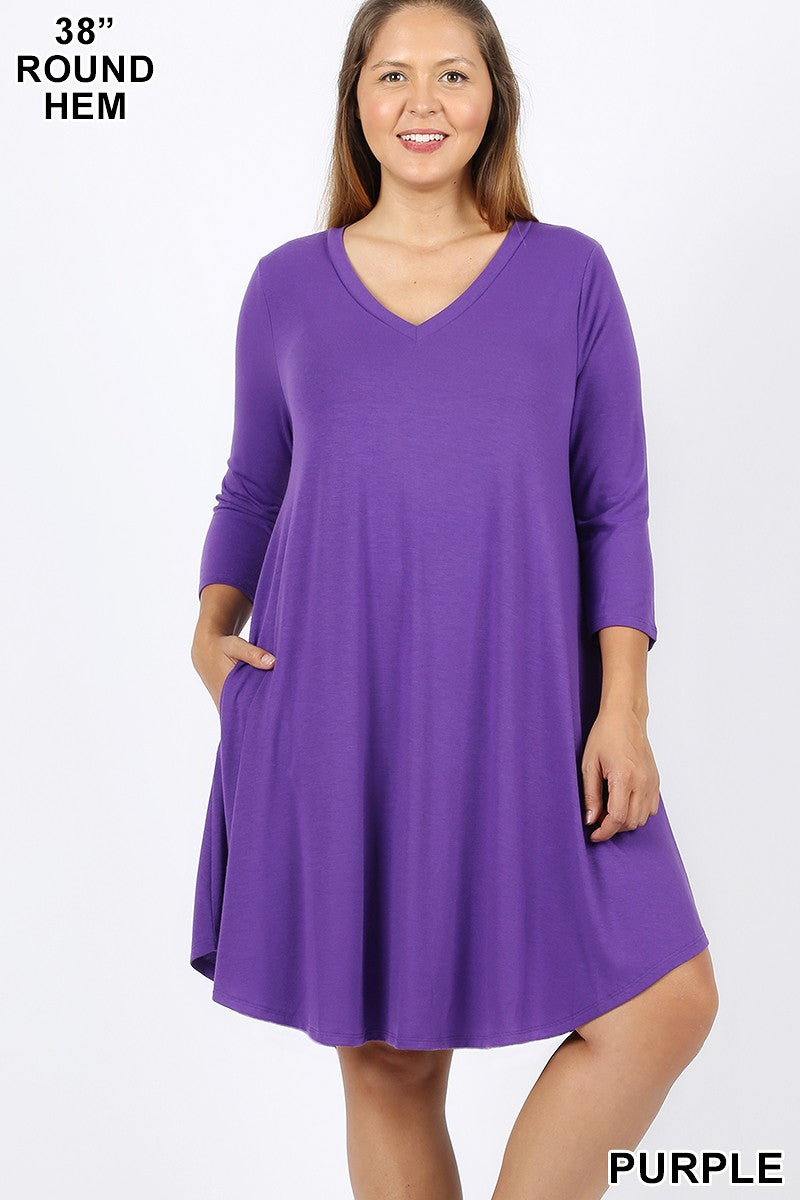 No Brainer Dress - Purple