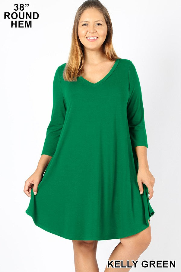 No Brainer Dress - Green