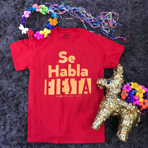 *FLASH SALE* Fiesta Tee - Se Habla Fiesta (Red & Purple)