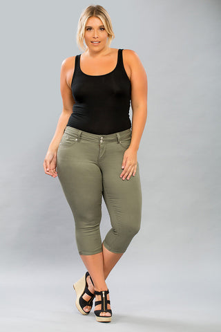 *SALE ITEM* Make 'em Green with Envy Capris