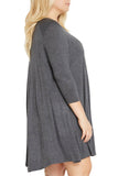 Keyhole to the Heart Swing Dress - Grey