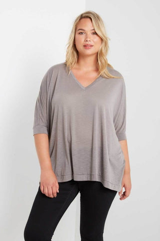 Take It Easy Top - Grey