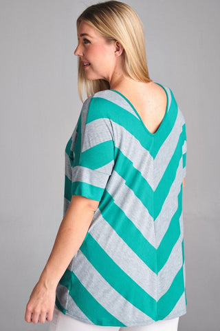 *CLEARANCE ITEM* Teal Turnaround Top
