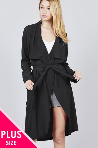 NO LIMITS TRENCH-BLACK