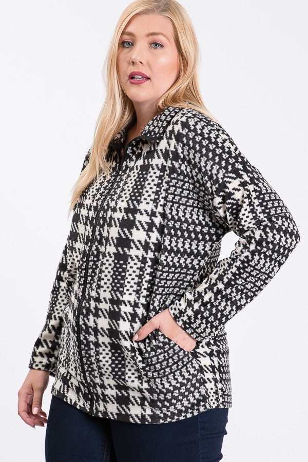 *SALE ITEM* Houndstooth Happy Sweater Jacket