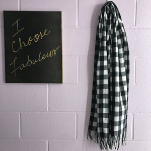 New Scarf - Checked Off
