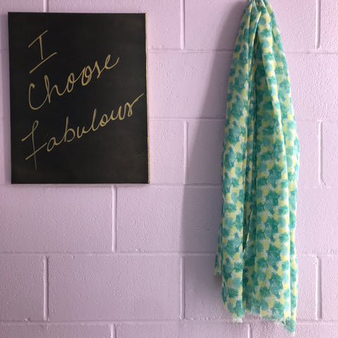 New Scarf - Pineapples