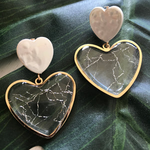 Clear Hearts Earrings