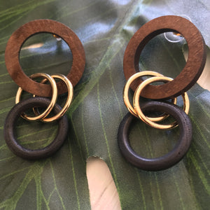 Trilogy Wood Earrings