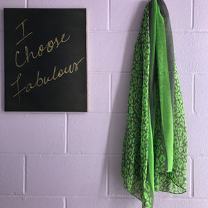 New Scarf - Neon Lights Leopard - Green