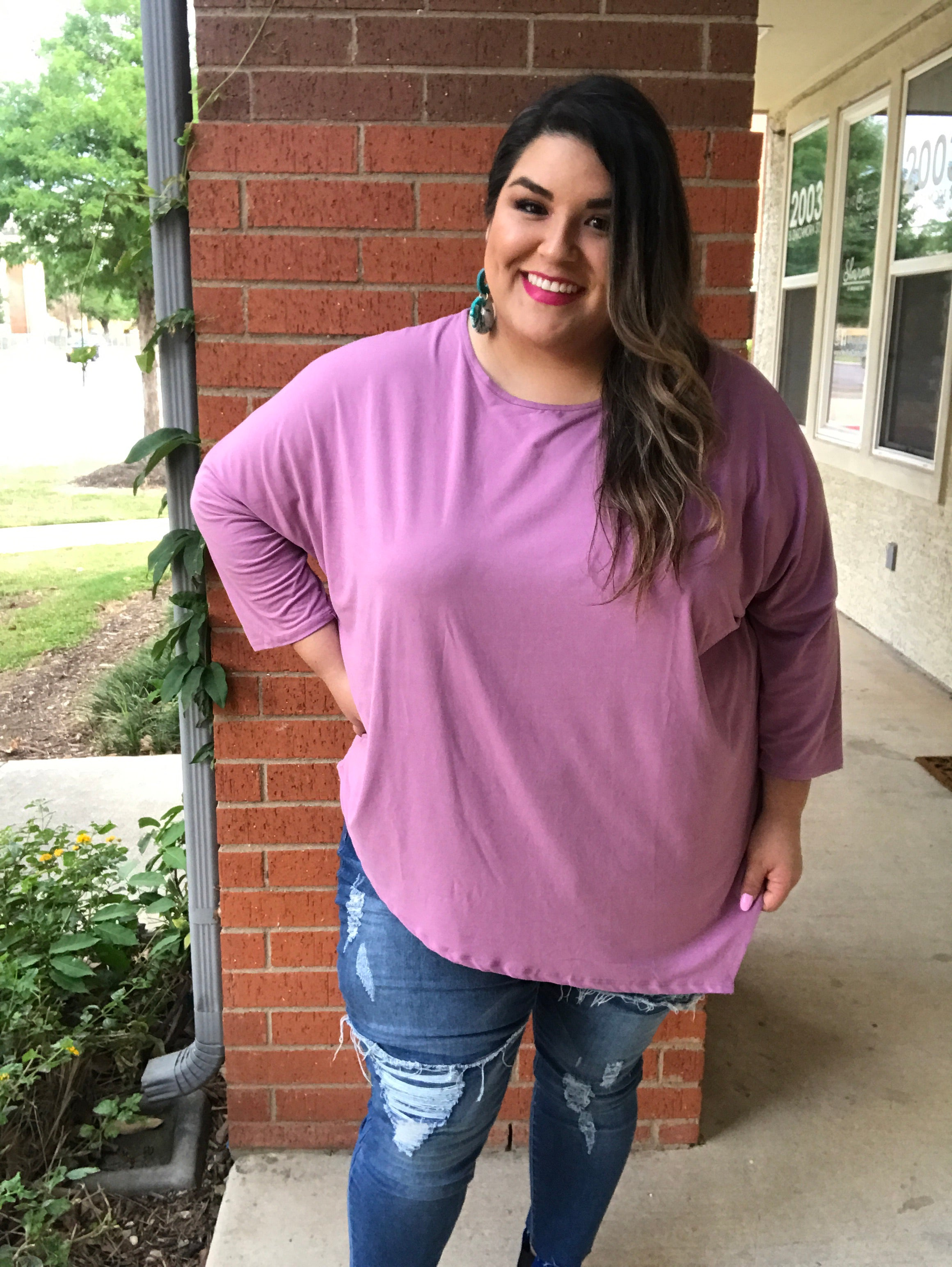 Simple Satisfaction Top - Lavender