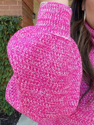 Tickled Pink Turtleneck Sweater