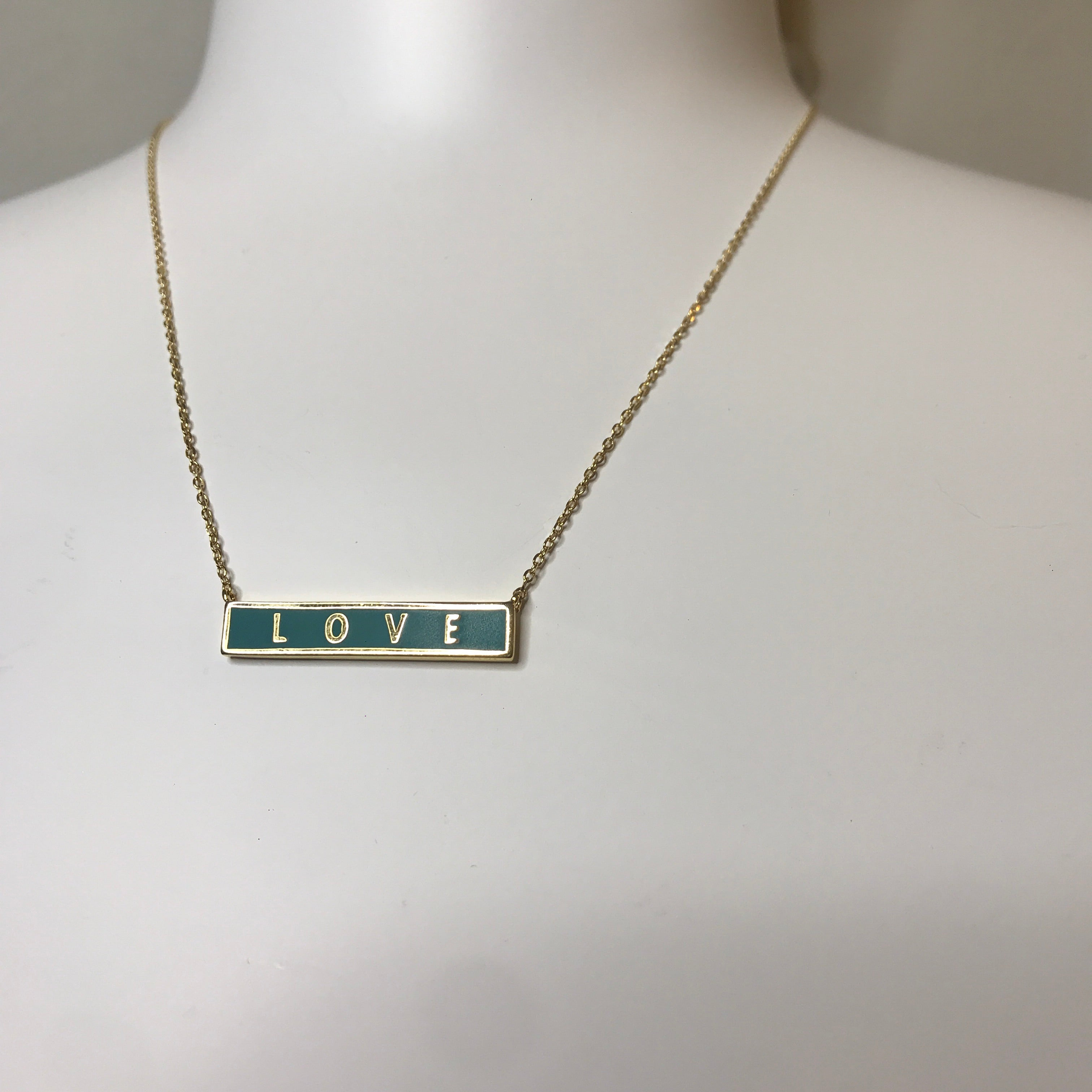 Love Block Necklace