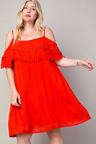 *CLEARANCE ITEM* Candy (Red) Rain Dress
