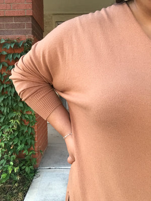Now you V It Sweater - Camel