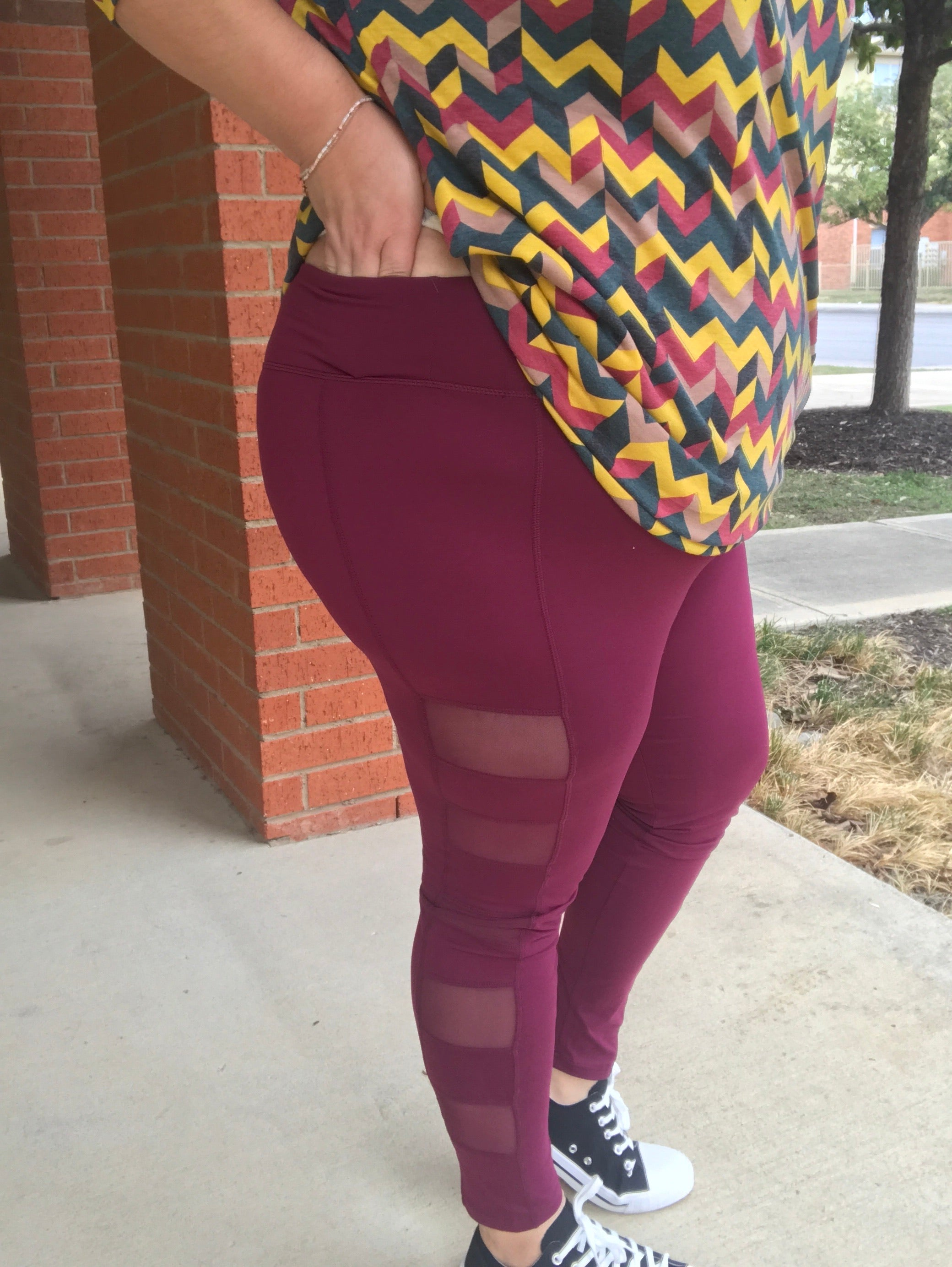 Sneak a Peek Yoga Pant - Wine