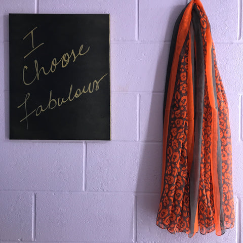 New Scarf - Neon Lights Leopard - Orange