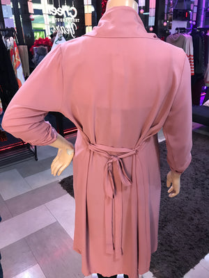 No Limits Trench-Pink