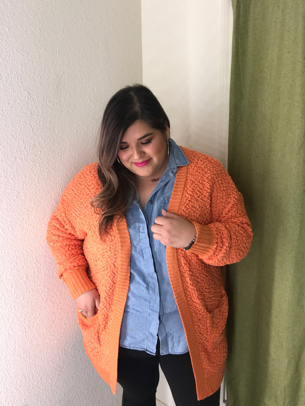 Popcorn Party Cardi - Melon