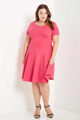 Ahead of the Curve Dress - Coral