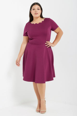 Ahead of the Curve Dress - Fuchsia