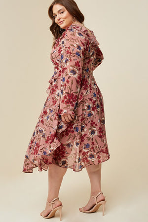 *CLEARANCE ITEM* Winter Blooms Dress