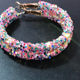 Small Glitter Hoops