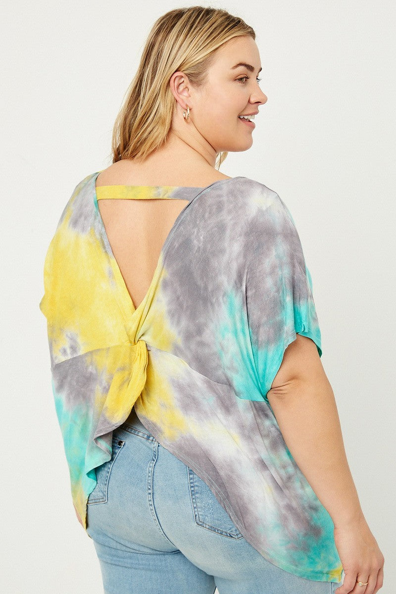 Twist & Tie Dyed Top