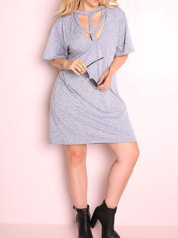 *CLEARANCE ITEM* Caged In Shirt Dress