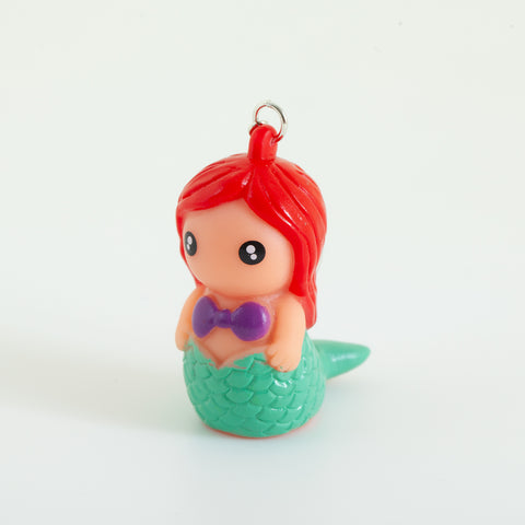 Squeeze the Mermaid Pooping Keychain - Red head