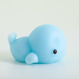 Mochi Squishy Animal - Whale, Baby Blue