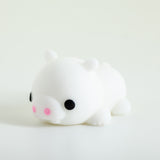 Mochi Squishy Animal - White with Ears Far Apart