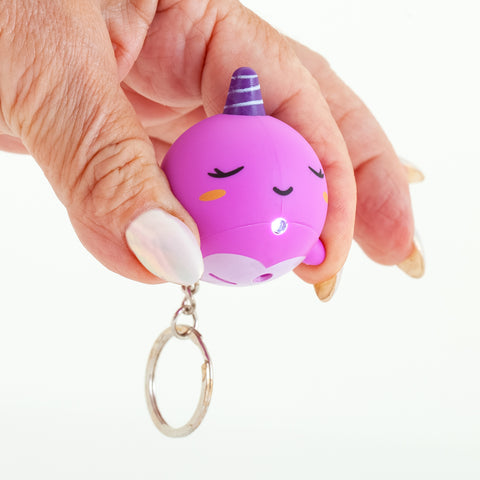 Pooping Narwhal Keychain - Magenta