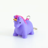 Pooping Unicorn Keychain - Purple