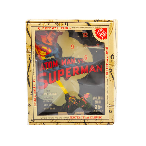 "Atom Man vs. Superman, 10"" x 12"" Wall Clock"