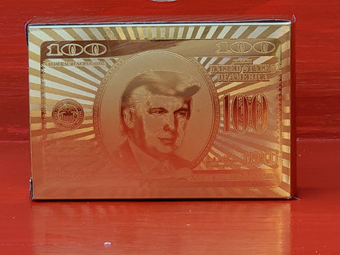 Trump Gold Playing Cards