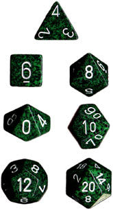 Polyhedral 7-Die Speckled Dice Set - Recon - It Came From Planet Earth  - 1