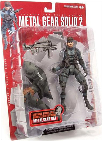 McFarlane Toys Metal Gear Solid 2: Solid Snake Action Figure Vintage - It Came From Planet Earth  - 1