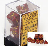 Polyhedral 7-Die Speckled Dice Set - Mercury - It Came From Planet Earth  - 2