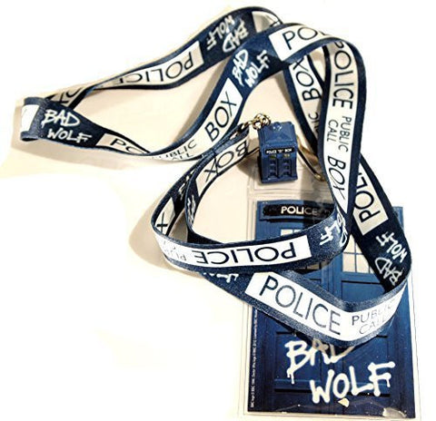 Doctor Who Bad Wolf Lanyard with Tardis 3D Charm - It Came From Planet Earth