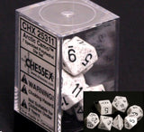 Polyhedral 7-Die Speckled Dice Set - Arctic Camo - It Came From Planet Earth  - 2