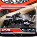 Hot Wheels Bat-POD Batman Motorcycle Diecast - It Came From Planet Earth  - 3